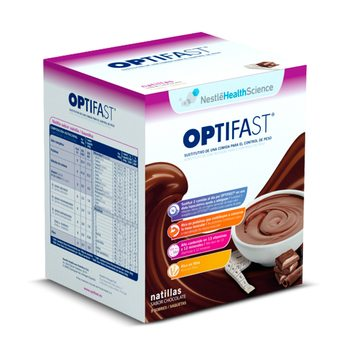 Optifast Natillas Sabor Chocolate - Sustitutivo Alimentico en una Dieta Hipocalórica