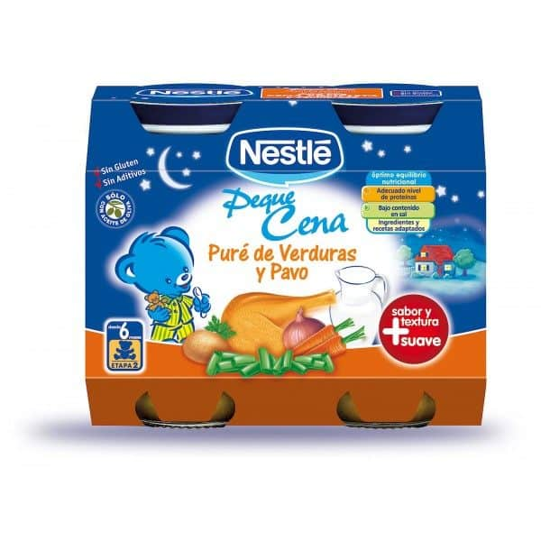 Comprar Nestlé Peque Cena Verdura Pavo 2 X 200ml