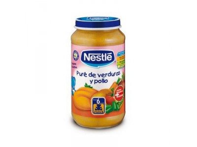 Nestle Tarros Naturnés 250gr Puré Verdura Y Pollo - Potito Infantil grande