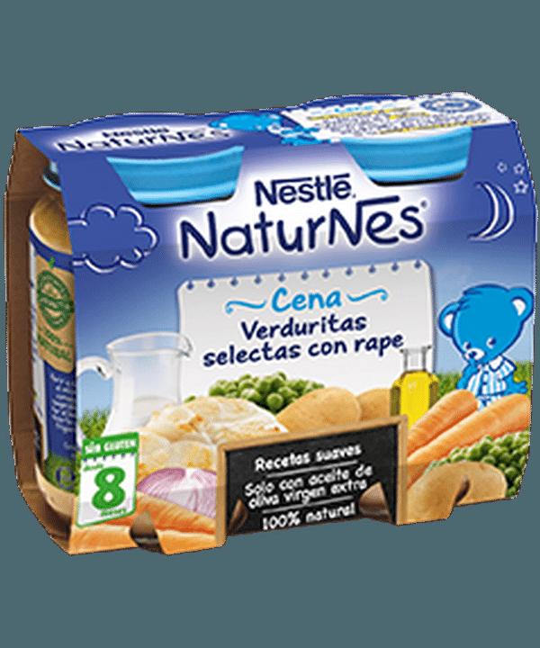 Comprar Nestlé Naturnes Verduritas Selectas Con Rape - Bipack 2 Uds de 200 gr 100 % Natural Sin Glúten