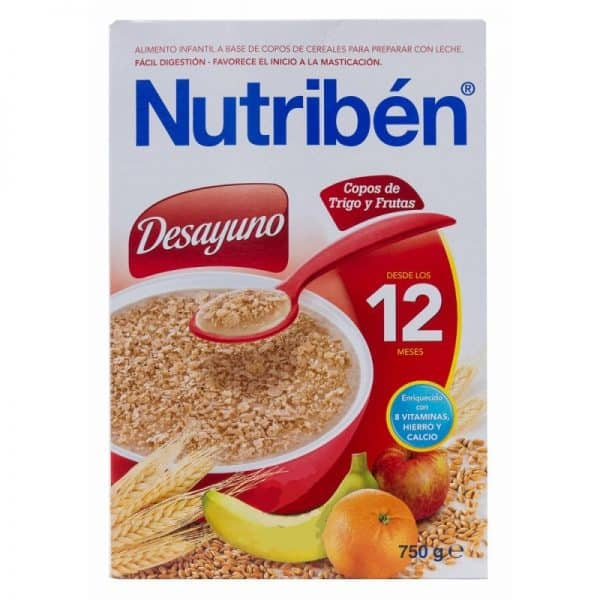 Comprar Nutribén Desayuno Copos Trigo y Frutas 750 gramos