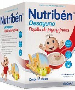 Comprar Nutriben Desayuno Papilla Trigo y Frutas 600 gr