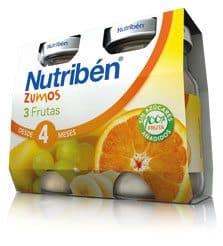 Nutribén Zumo de 3 Frutas 2 x 130 ml