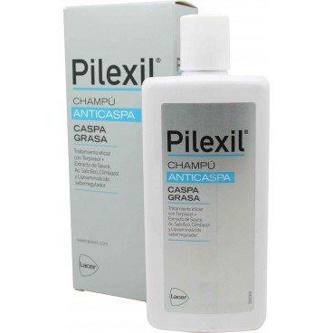 Pilexil Champu Caspa Grasa 300 Ml para Cabello Graso- Tratamiento Anticaspa