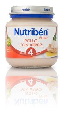 Nutribén Potito Bebé de Pollo Con Arroz 130 gr