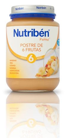 Nutribén Potito Junior Postre De 6 Frutas 200 Gr