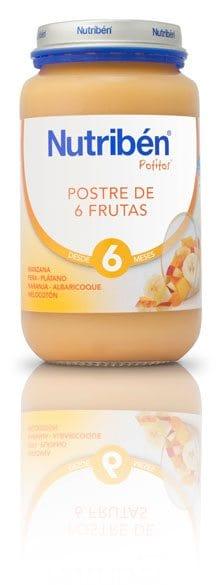 Nutribén Potito Grandote Postre De 6 Frutas 250 gr