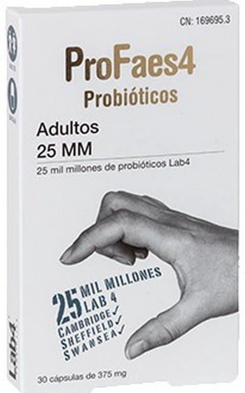 Comprar ProFase4 Probiótico Adultos 25 mm (mil millones) 30 Cápsulas - Restaurar el Equilibrio Intestinal