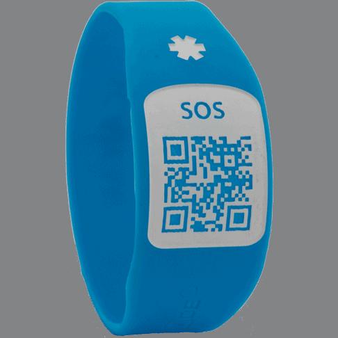 Pulsera Silincode QR Azul Talla XS