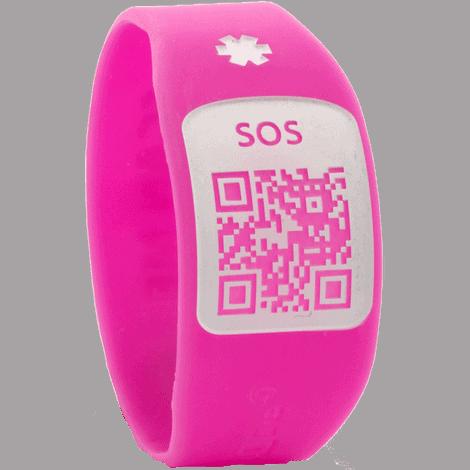 Pulsera Silincode QR Rosa Talla XS
