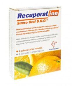 Comprar Recuperation Suero Oral Naranja 4 Sobres