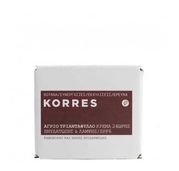 Comprar Korres Crema de Día Rosa Salvaje 40 ml SPF 6 - Crema Hidratante Iluminadora 24 horas Para Pieles Normales a Secas