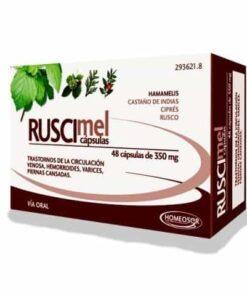 Comprar  Ruscimel Homeosor  350 mg 48 Cápsulas - Complemento Alimenticio para Trastornos de Circulación