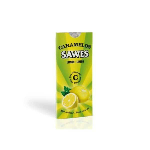 Sawes Caramelos Limón Blisters Sin Azúcar 22 gr