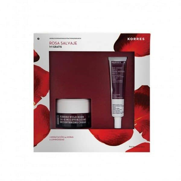 Comprar Korres Pack Rosa Salvaje - Crema Día 24 horas Para Pieles Normal a Seca SPF 6 Crema Iluminadora Contorno de Ojos