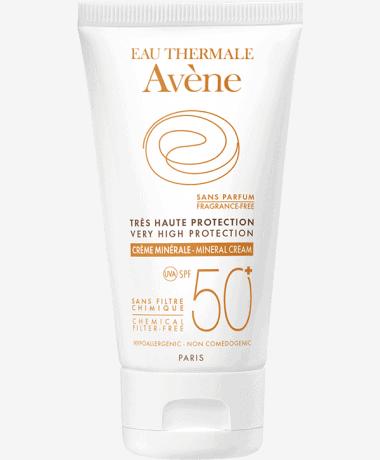 Comprar Avène Solar SPF 50+ Crema Pantallas Físicas 50 ml
