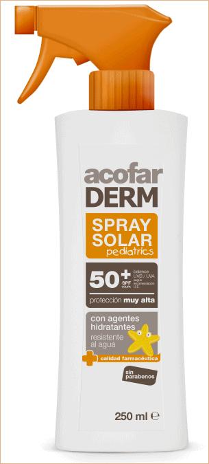 Comprar Acofarderm SPF 50+ Spray Solar Pediatrics 250 ML