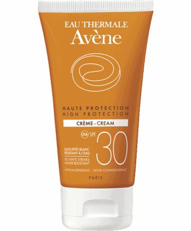 Comprar Avène Solar SPF 30 Crema 50 ml con factor de protección solar alto para pieles sensibles.