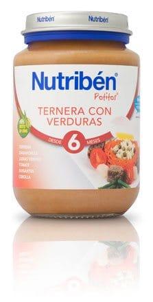 Nutribén Potito Junior Ternera Con Verduras 200 gr