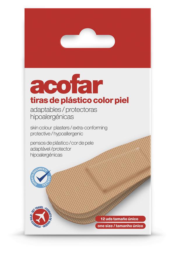 Acofar TIRAS de plastico color piel viaje 12 unidades