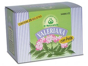 Comprar El Naturalista Valeriana con Anís 20 Bolsitas