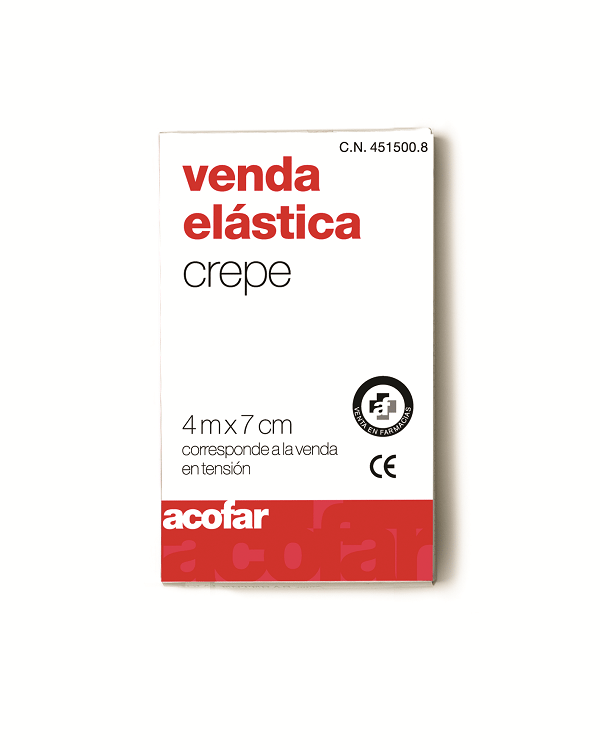 Acofar VENDA ELÁSTICA crepe 4 m X 7 cm
