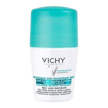 Comprar Vichy Desodorante Anti- Manchas 50 ml desodorante antimanchas amarillas y /o blancas. No transpira