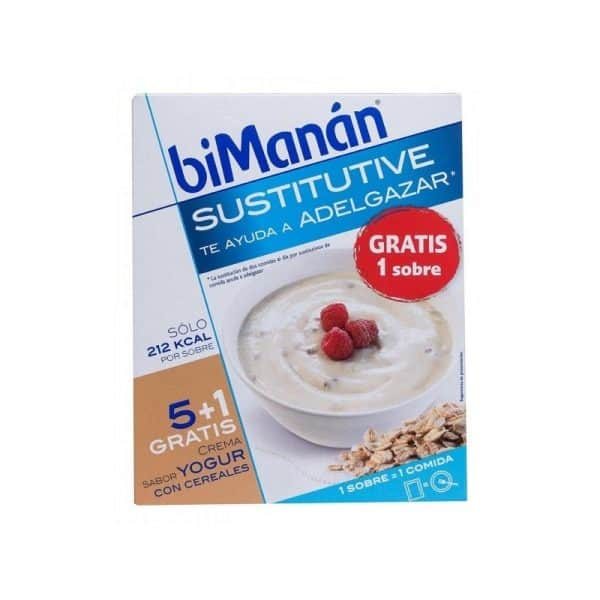 Comprar Bimanán Crema Yogur Cereales 55 G x 6 U - Sustitutivo Comidas